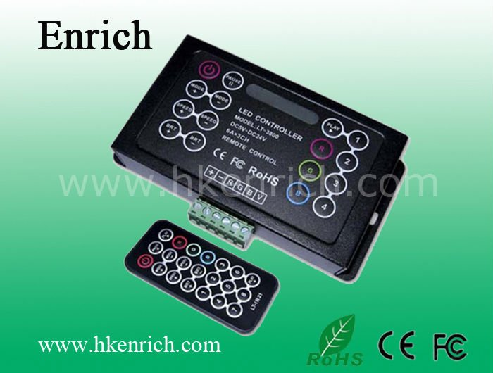 RGB LED Controller with IR Remote (LT-3800-6A)