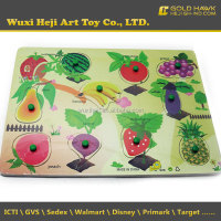 Popular Fruit wooden puzzle toy manufacturer in China