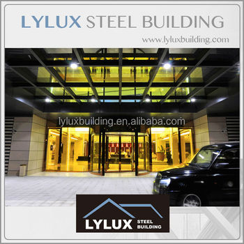 Creative designing for star hotel steel structure modern entrance door