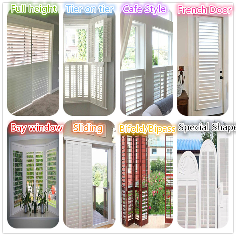 Decoration white PVC louver window shutter USA / Australia standard