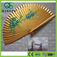 promotional custom printed folding hand bamboo fan