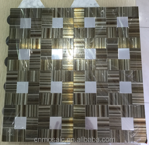 2015 new thinner design ACP mosaic for kitchen backsplash