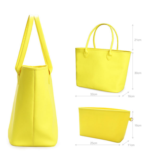 Gold manufacturer bright coloured two set shopping bag Since 1997