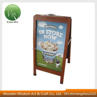 2014 New Style Hot Sale Restaurant Wood Advertising Board