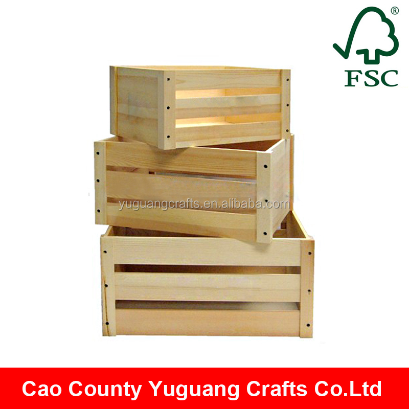 Yuguang Custom Cheap Unfinished Crates Cheap Wooden Crates For Sale