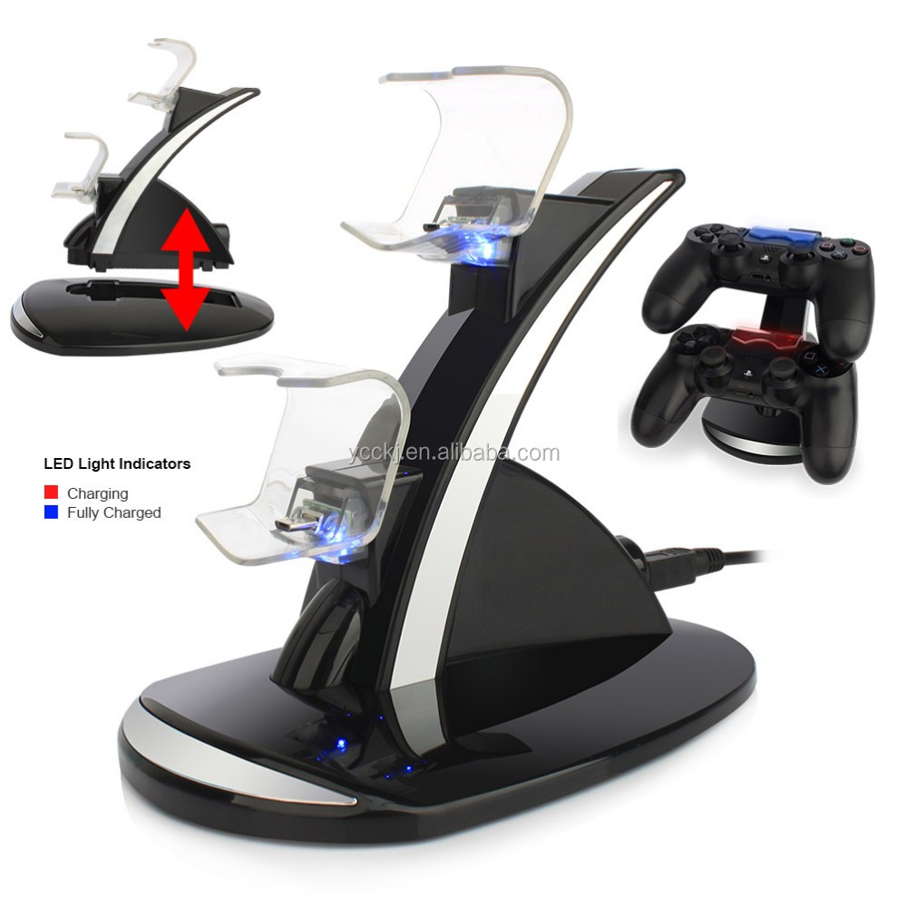 Hot selling dual charging dock charging station Charging seat for PlayStation 4 PS4 controllers