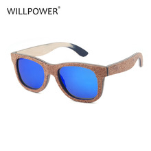Luxury mens sunglasses brands polarized we green retro pure recycled bamboo cork wood sunglasses women 2017