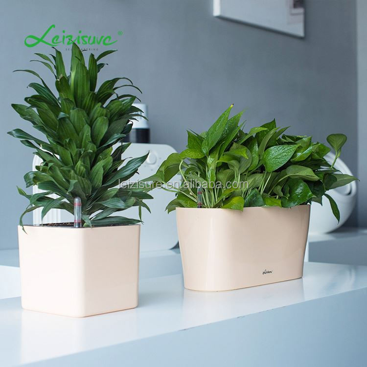 Hydroponic grow pots,pottery and ceramic material type ceramic plastic flower pot