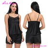 Fast shipping black lace up ladies sexy night home wear for women