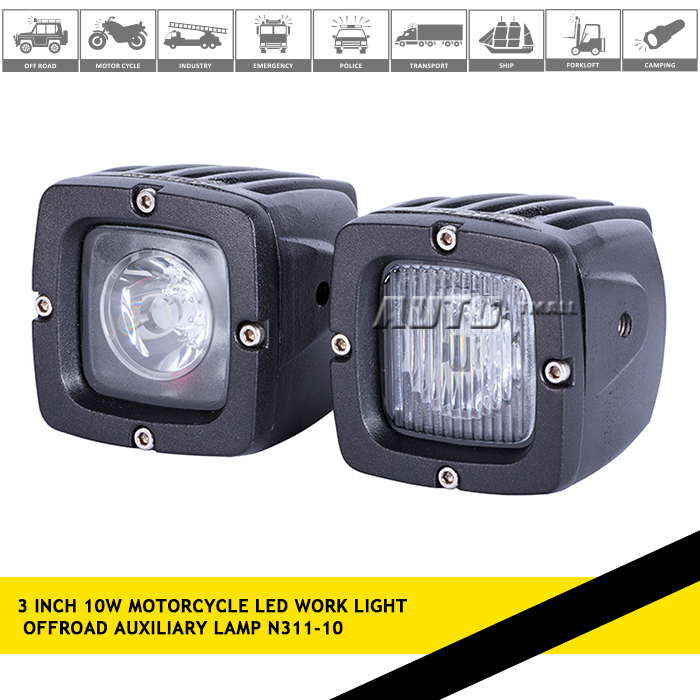 Off-road SUV driving light 10w LED work light motor led work lamp