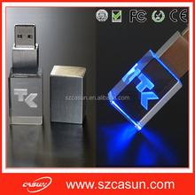Wholesale new product 3D LOGO crystal usb memory stick,cheap usb stick for sale