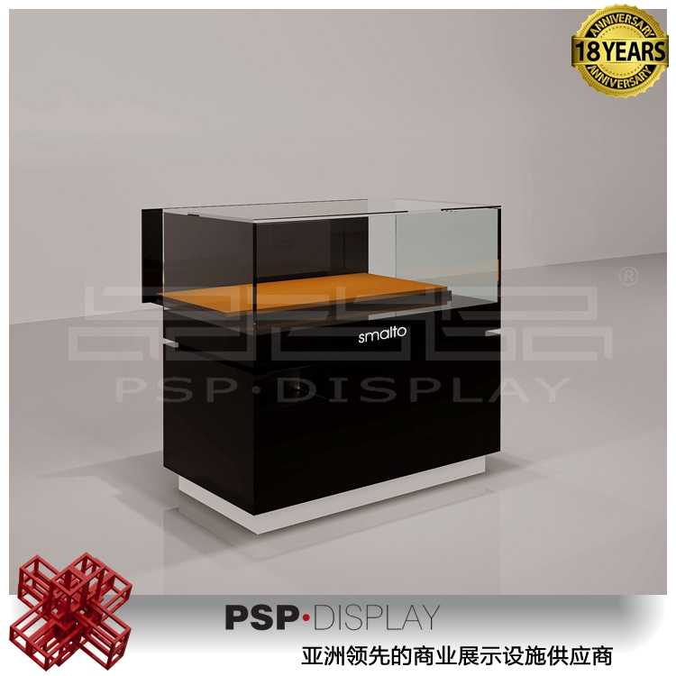 Contemporary Extra Vision Horizontal Display Case for fashion design jewelry store