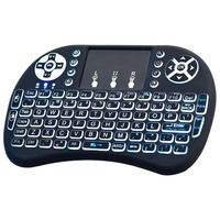 2.4GHz Wireless 92-key QWERTY Backlit Keyboard Air Mouse Touchpad f Laptop TV Box Computer