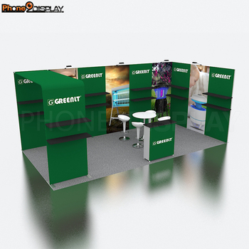 Potable Quick setup 10 x 20 exhibition booth Aluminum Alloy Reusable trade show booth 10 x 20