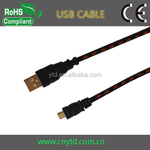 gold plated version 2.0 micro usb y cable
