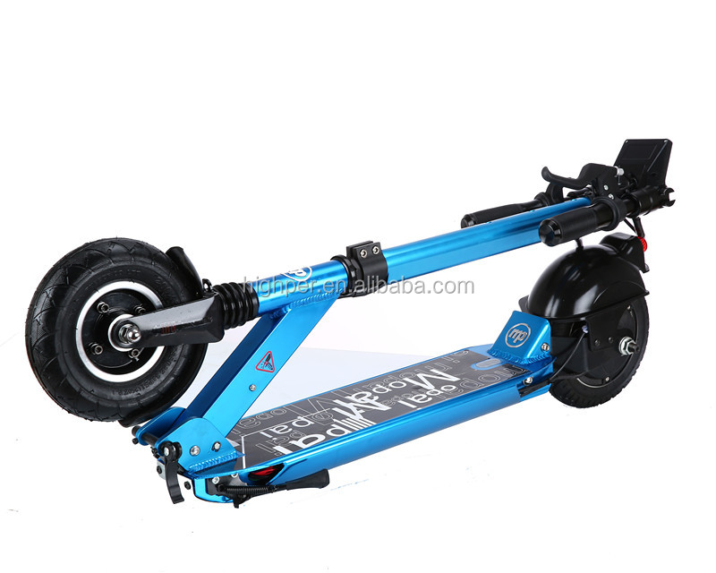 250w brushless motor lithium battery folding mini 2 wheel electric scooter for adults(HP109E-A)