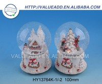Best selling christmas resin plastic musical snow globe factory supply