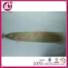 "22"" Remy Keratin Stick tip/I-tip hair Human Hair Extensions #60 white blonde 1g/s Silky Straight"