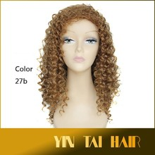 New 2014 Fashion Brand Human Wavy Wigs Women Long Women Cosplay Women Synthetic Wigs Black Blonde Light Brown