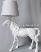 Decoration large horse statues with Light floor standing lamps,electrical engineering project (PF-2325)