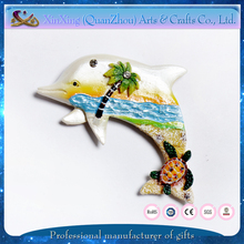 exquisite resin dolphin shape promotional fridge magnet