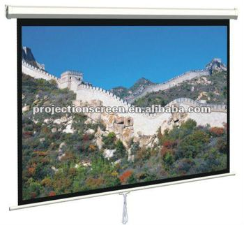 economy 80inch 1:1 glass beaded manual projection screen for various place