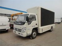 Cheap price foton outdoor advertising led display screen truck