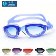 Silicone free swimming goggle mirror lens swim goggles for adult