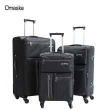 Newest design spinner wheel waterproof material match leisure international travel bags luggage suitcase
