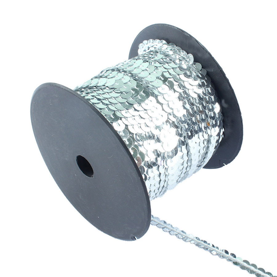 100 yards 6mm Sequin String Rolls Sewing on Trim garment accessories for DIY Craft Decoration