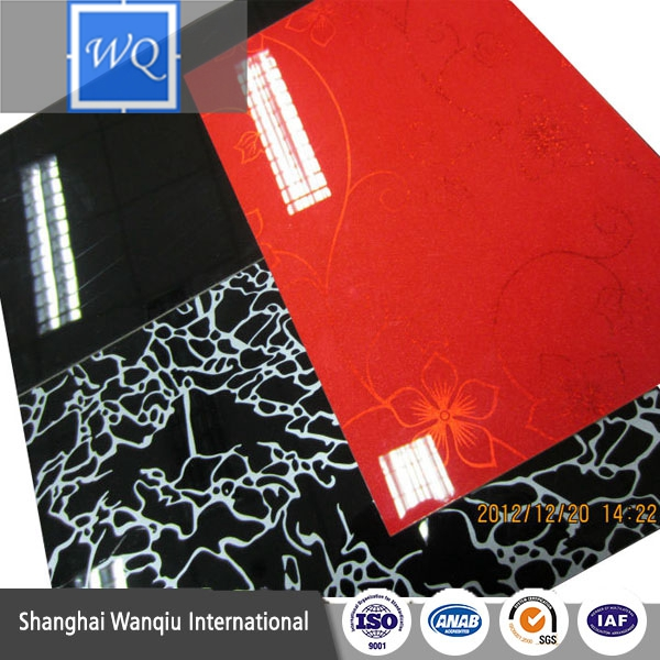 High Gloss PVC Melamine mdf board/pvc MDF