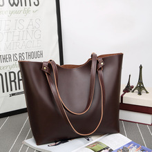 New arrival tote bag PU leather shopping bags handbag durable tote women bag
