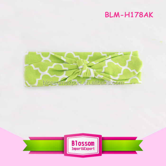 High quality baby girls cotton headband cute baby flower headband