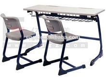 School Furniture Classroom Double Desk and Plastic Chair for Education