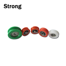 Customized POM rollers 8*33*12MM PU Nylon pulleys with bolts/ screws for Door & Window Rollers Type sliding glass door