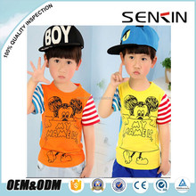 wholesale boys organic cotton t-shirts ,lovely sportswear t-shirts for children,baby clothes OEM