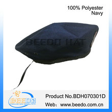 Navy blue 100% polyester army special forces beret