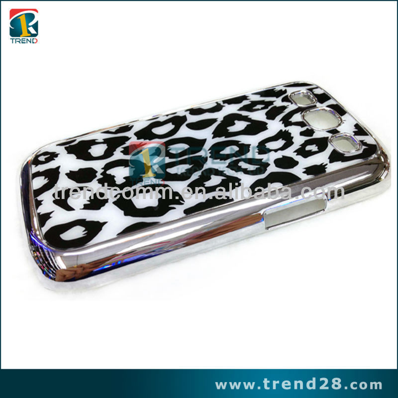 fashionable leopard pattern PC cover case for samsung galaxy s3
