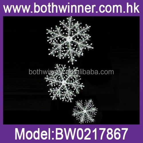 QB111 christmas metal snowflake ornament