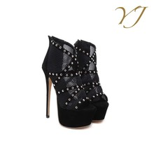 2017 Cheap shoes wholesale womens platform super high heels with diamonds ornaments
