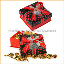 Sweet candy gift box with bow
