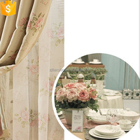 hot selling from china supply manufacture polyester wholesale printed curtain fabric