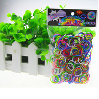 BY-R001 Colorful Rainbow Loom Rubber Bands Made in China Hot Sale Rainbow Loom