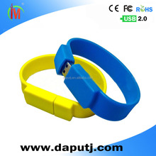 Wholesale lucky wristband usb flash drive ,bracelet usb stick low price with costomized logo printed