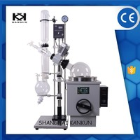Vacuum Glass Fractional Distillation Unit With Condenser