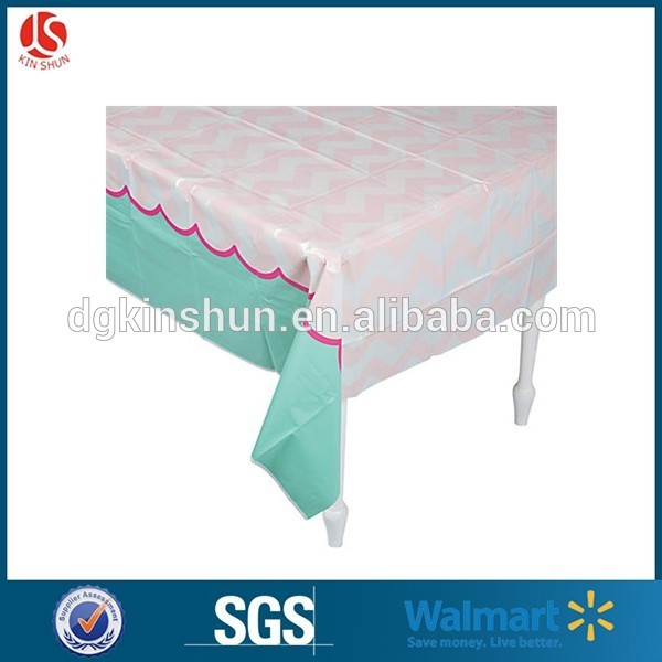 Factory Directly elegant western style plastic happy birthday tablecloth