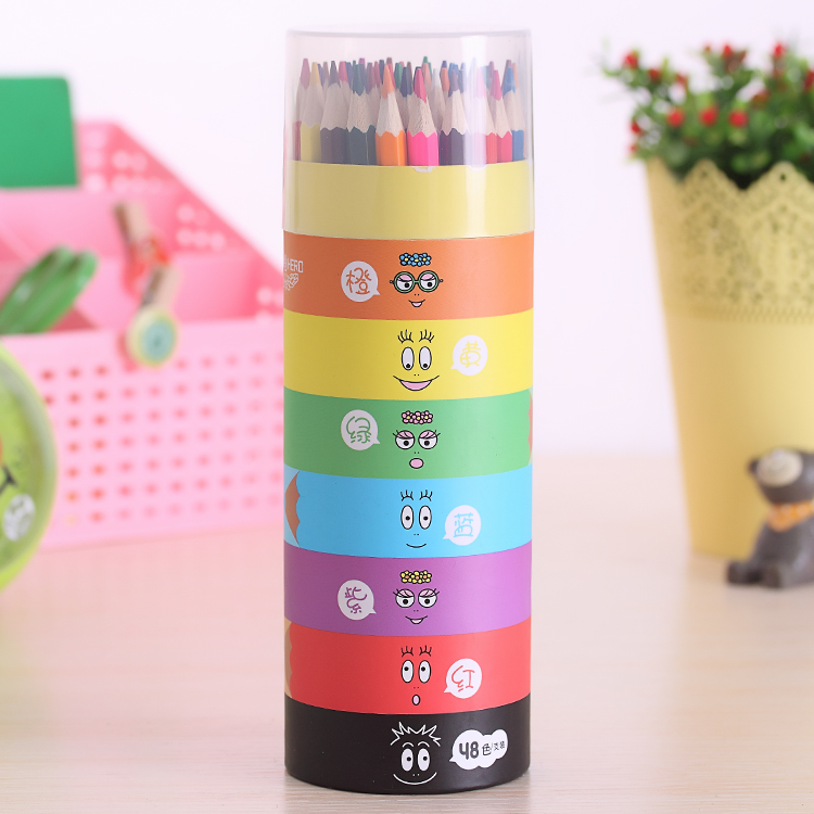 Break Resistance Wood Color Pencils Set 48