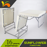 Movable folding furniture portable folding bed hot sell home furniture single folding metal bed