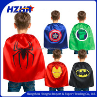 Party Costume for Children 2016 Halloween cosplay Superhero Capes kids