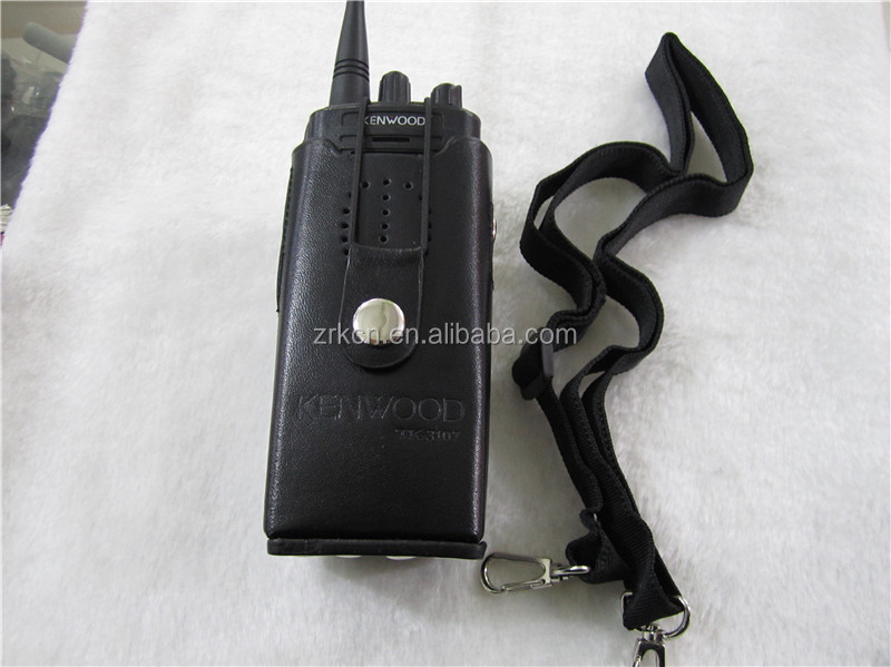 Accessories for walkie talkie radios Leather case use for TK3107 two way radio